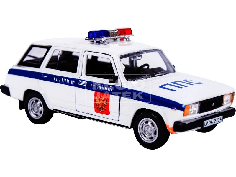 Lada 2104 fém autómodell 1:34 - fehér rendőautó