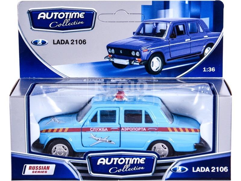 kép nagyítása Lada 2106 fém autómodell 1:36 - világoskék rendőrautó