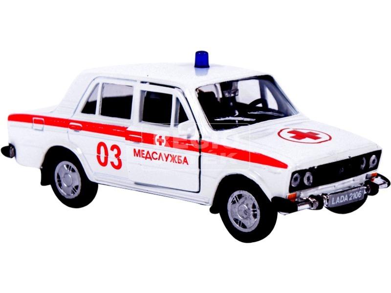 1:36 LADA 2106 mentőautó fém modell 11461