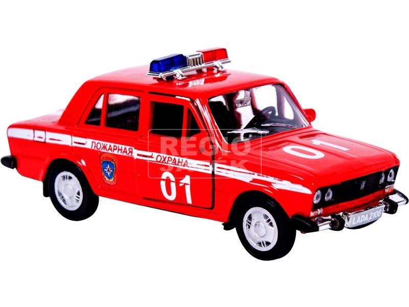 Lada 2106 fém autómodell 1:36 - piros tűzoltó