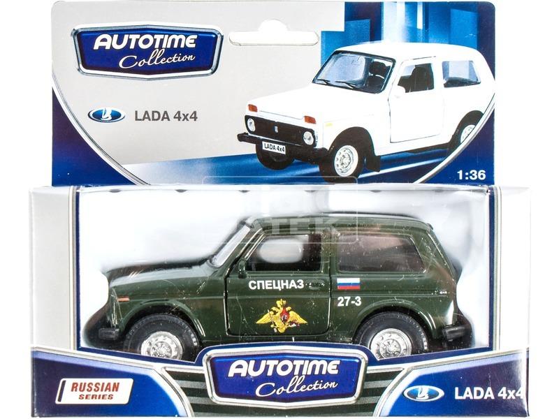 1:36 LADA 4x4 katonai jármű fém modell 37031