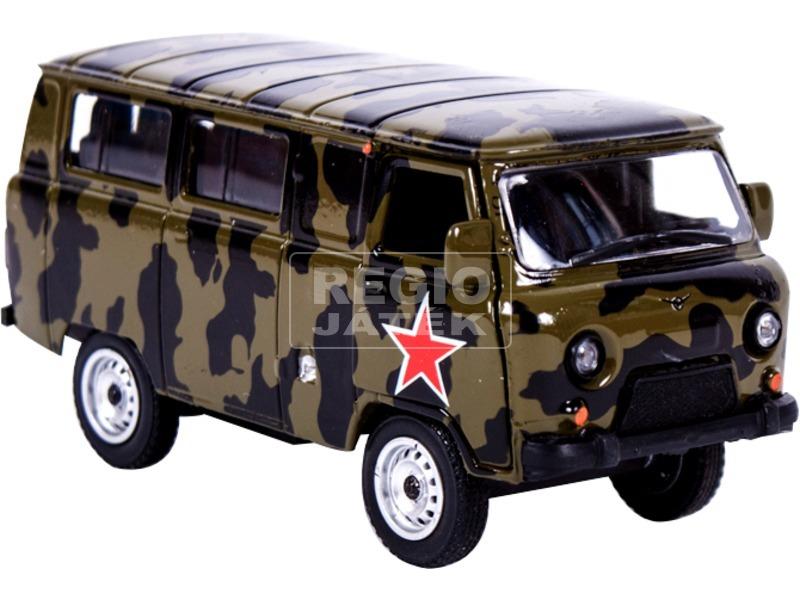UAZ 452 fém autómodell 1:43 - katonai