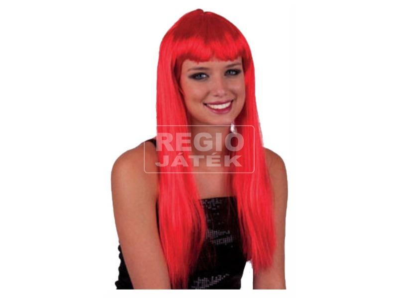 Paróka - hosszú haj - vörös