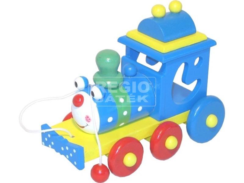 Mókás fa húzható vonat
