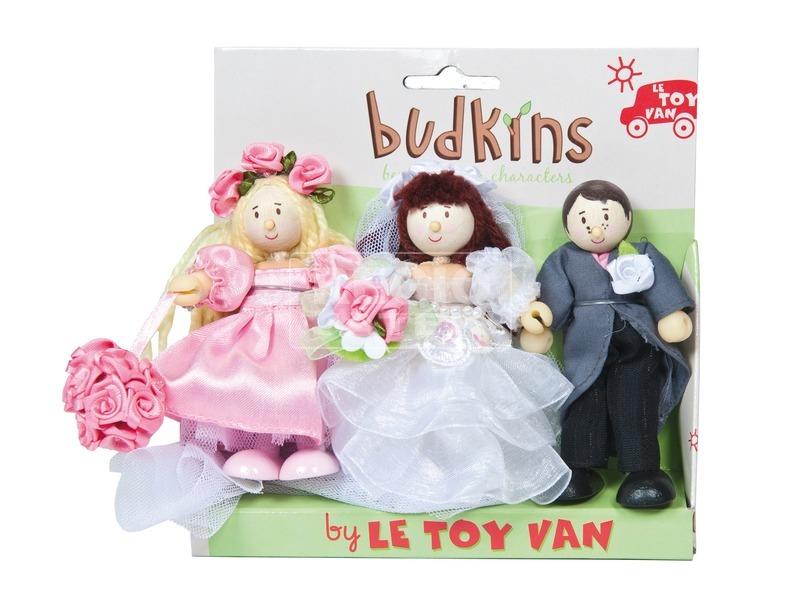 Le Toy Van: Esküvői fa figura 3 darabos készlet