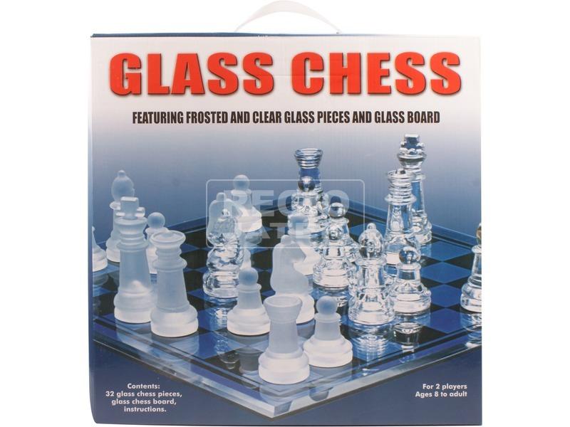 Üveg sakk készlet 20 x 20 cm