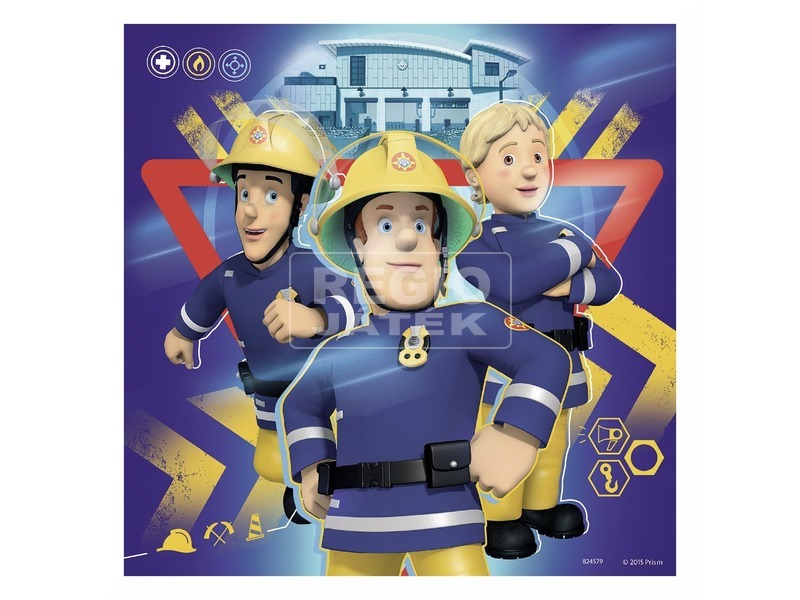 kép nagyítása Sam a tűzoltó 3 x 49 darabos puzzle