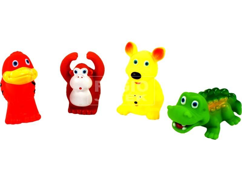 Trópusi állatok 4 darabos fürdőjáték