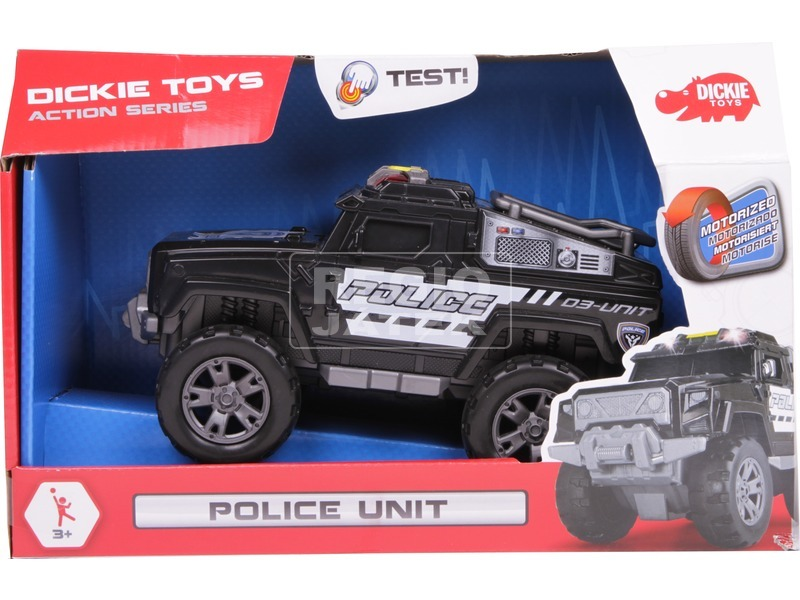 Dickie Police Unit rendőrautó - 20 cm