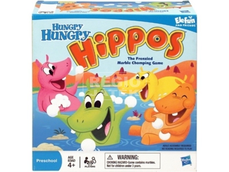 kép nagyítása Hungry Hippos Gyolyófaló vízilovak társasjáték