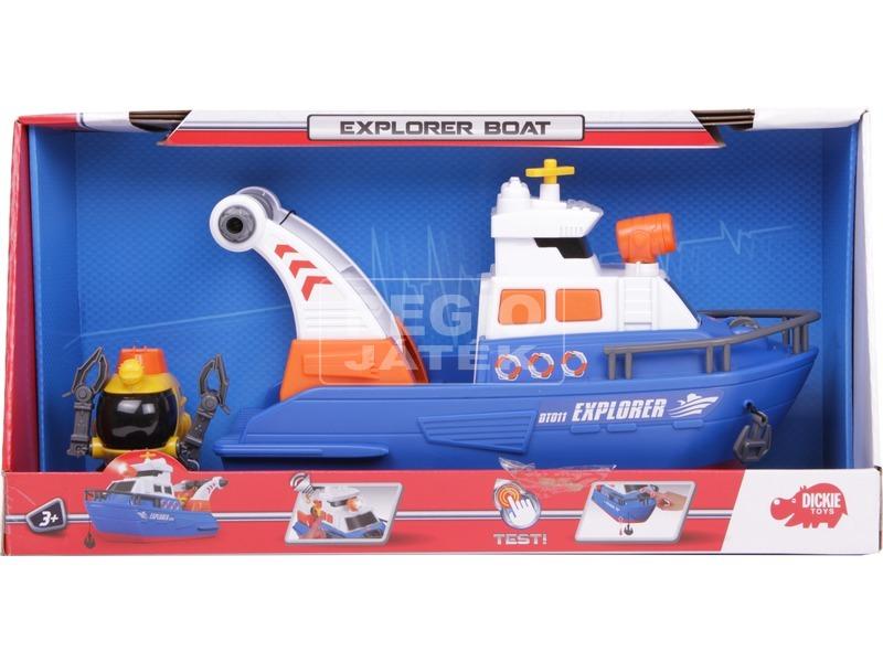 Dickie Explorer Boat kutató hajó - 33 cm