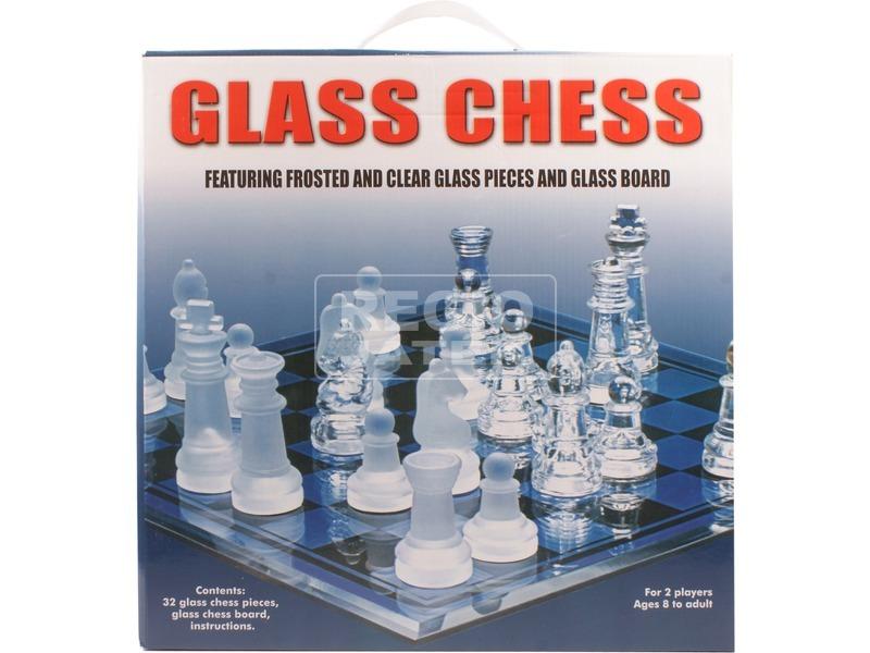 Üveg sakk készlet 35 x 35 cm