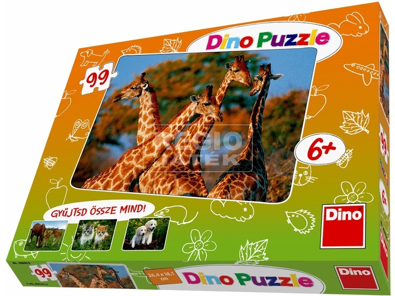 Állatok 99 darabos puzzle - többféle
