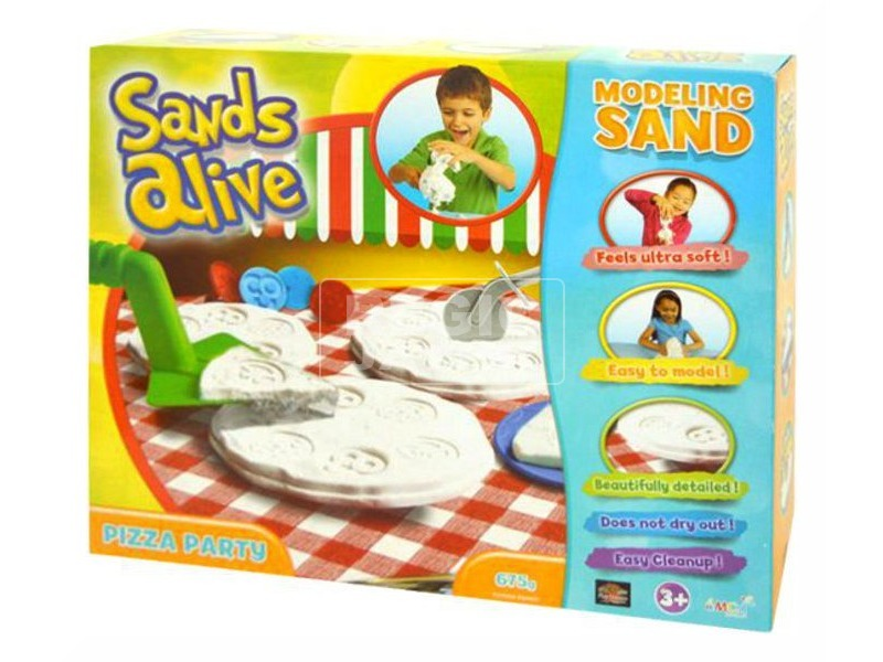 Sands Alive intelligens homok pizza parti