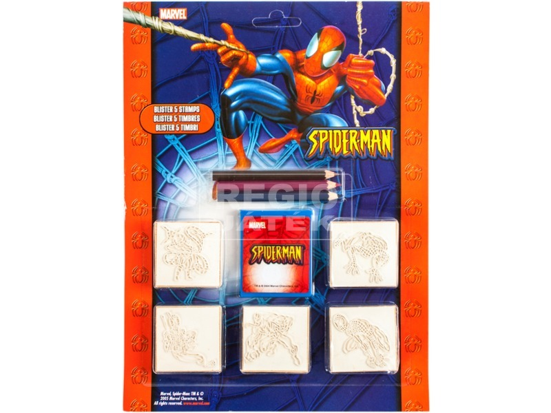 Pókember: 5 darabos játéknyomda színes ceruzával