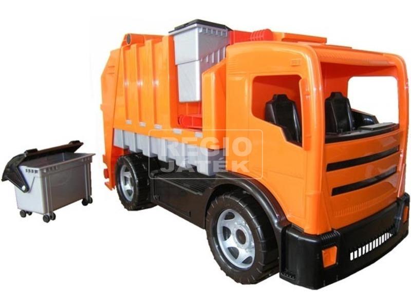 Műanyag kukás autó - 72 cm