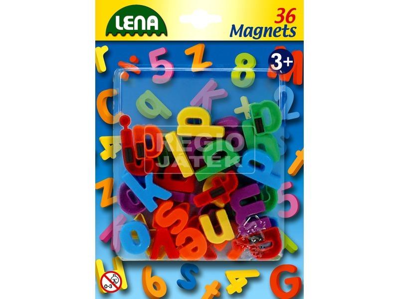 Mágneses kisbetűk 36 darabos készlet