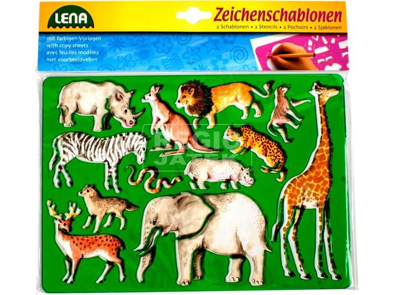 Egzotikus állatok rajzolósablon 2 darabos készlet