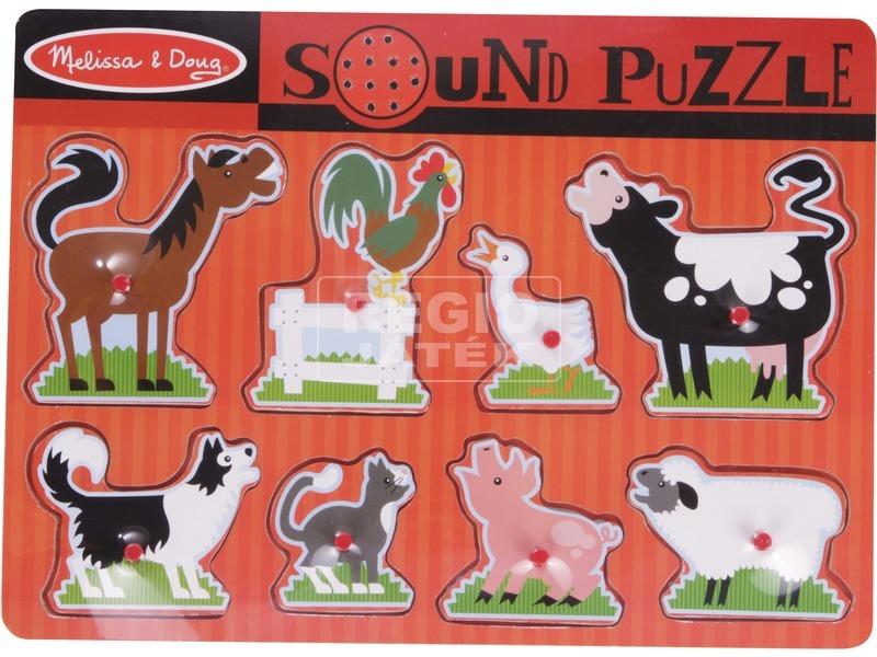 Farm állatok 8 darabos puzzle hanggal