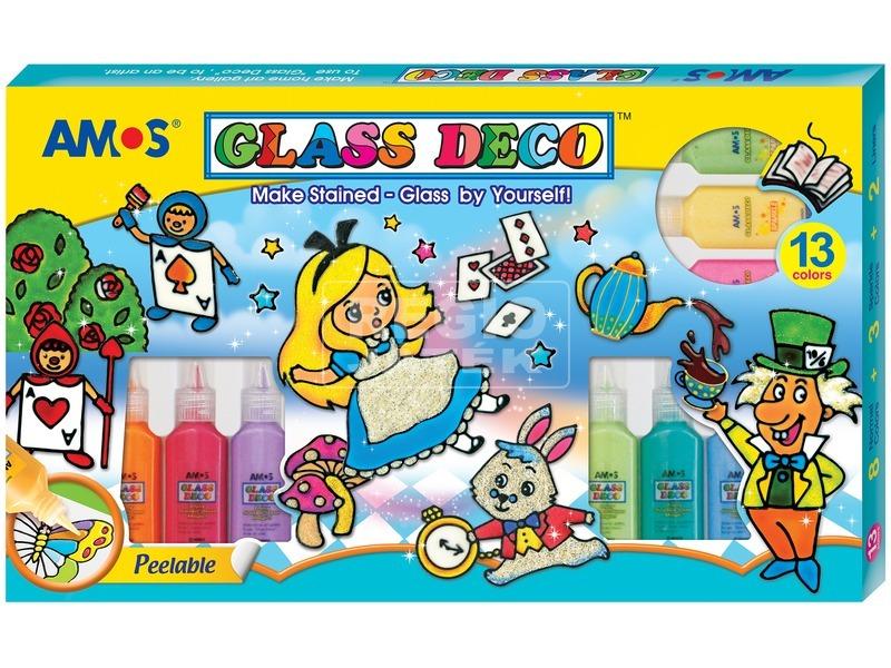 Üvegmatricafesték szett 13 színnel