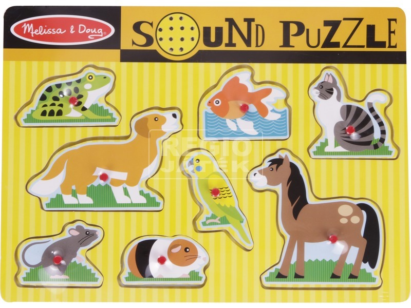 Háziállatok 8 darabos puzzle hanggal