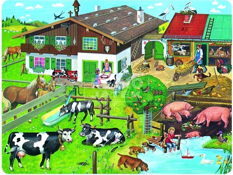 kép nagyítása Tanyasi élet 33 darabos puzzle