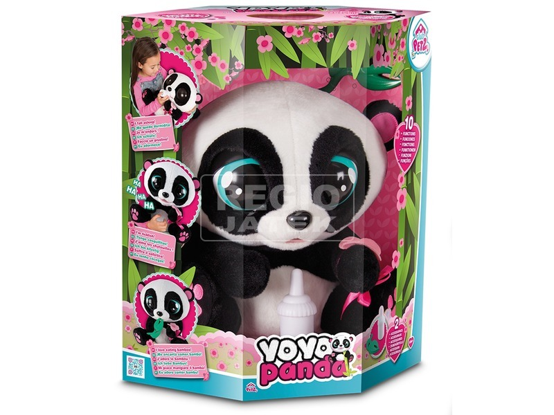 Yoyo panda interaktív plüssfigura - 40 cm