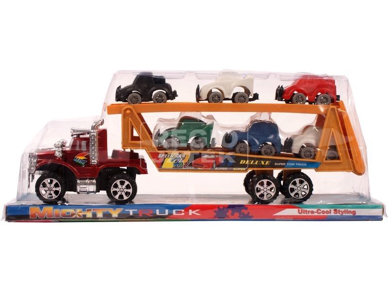 kép nagyítása Autószállító kamion kisautókkal - 32 cm, többféle