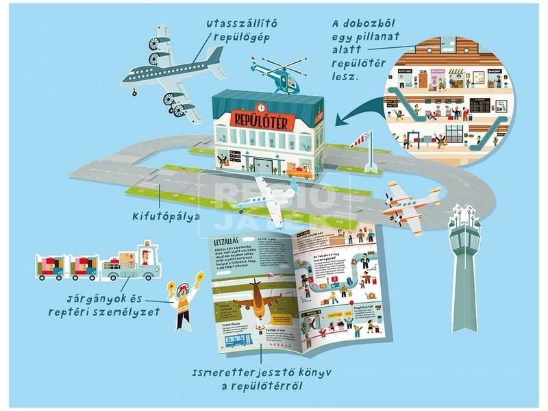 kép nagyítása Építsd fel - Repülőtér ismeretterjesztő könyv