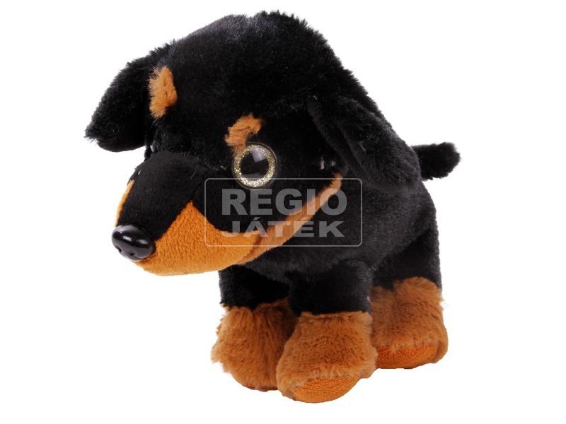 Kutya ülő plüssfigura - 17 cm, többféle