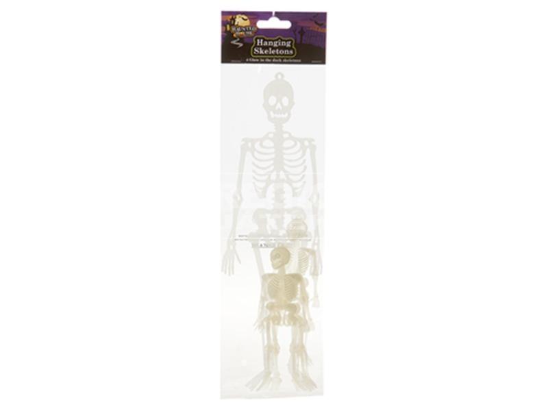 Foszforeszkáló csontváz 4 darabos készlet