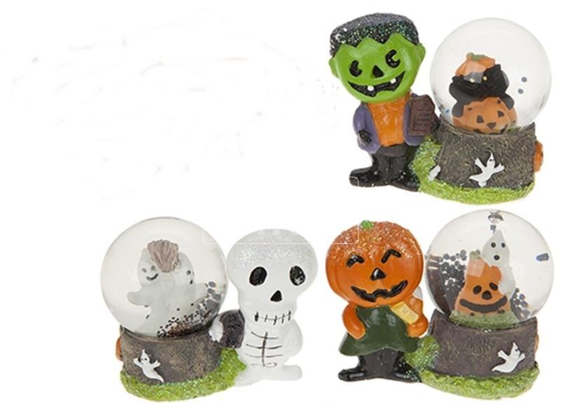 Halloween hógömb figurával - 5 cm, többféle