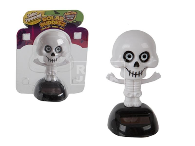 Halloween napelemes csontváz figura