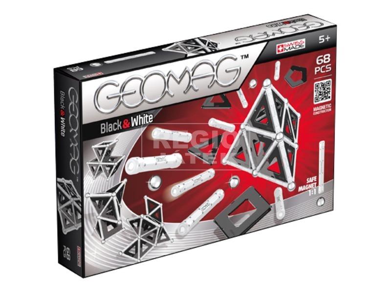 Geomag Panels 68 darabos készlet - fekete-fehér