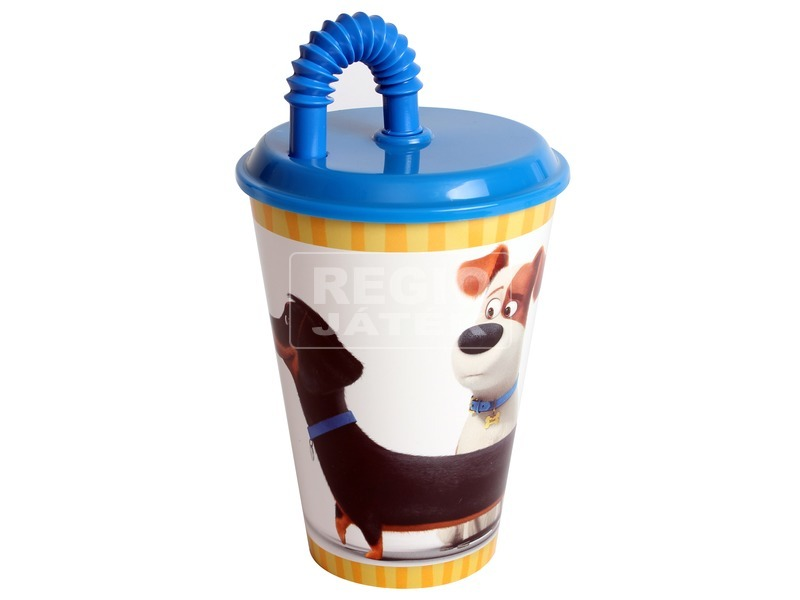 Kis kedvencek pohár szívószállal - 430 ml