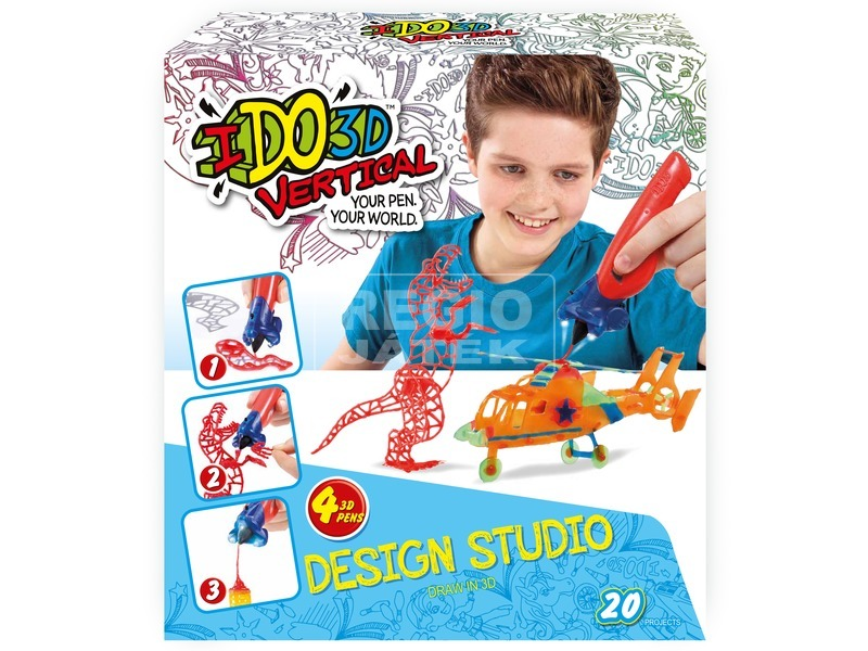 kép nagyítása I Do 3D függőleges 4 darabos készlet - többféle