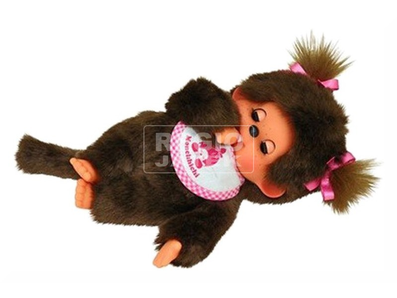 Monchhichi lány pislogó plüssfiura - 20 cm