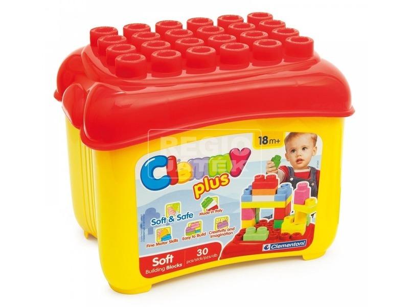 Clemmy Plus puha építőkockák tárolóval 30db14882
