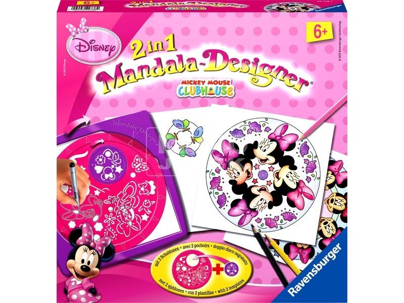 Minnie egér 2 az 1-ben mandala rajzoló