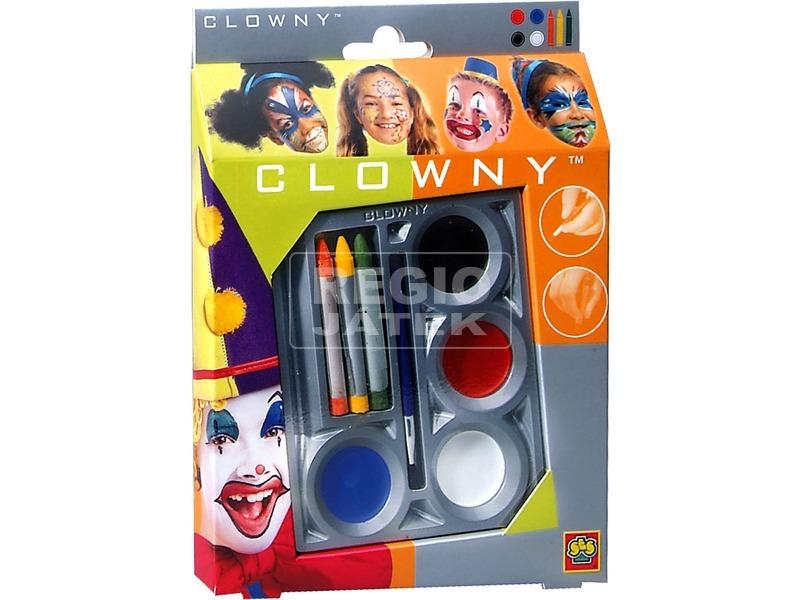 Clowny 7 darabos arcfestő készlet - többféle