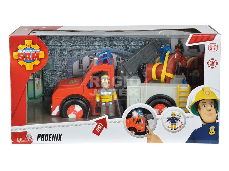 Sam a tűzoltó Phoenix + figura + ló