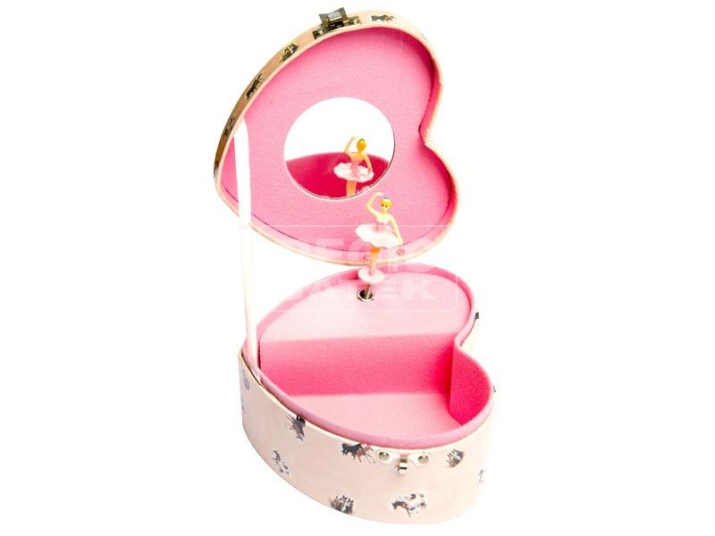 kép nagyítása Lovas szív alakú zenélő doboz