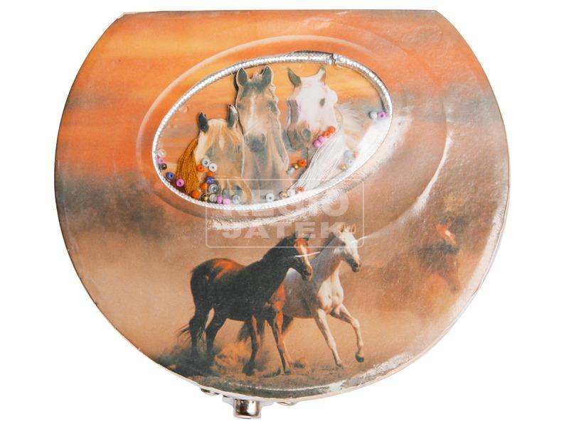 kép nagyítása Félkör alakú lovas zenélő doboz