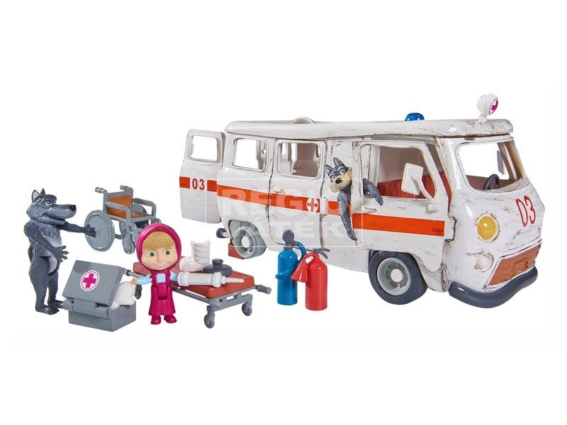 kép nagyítása Masha és a medve mentőautó játékkészlet