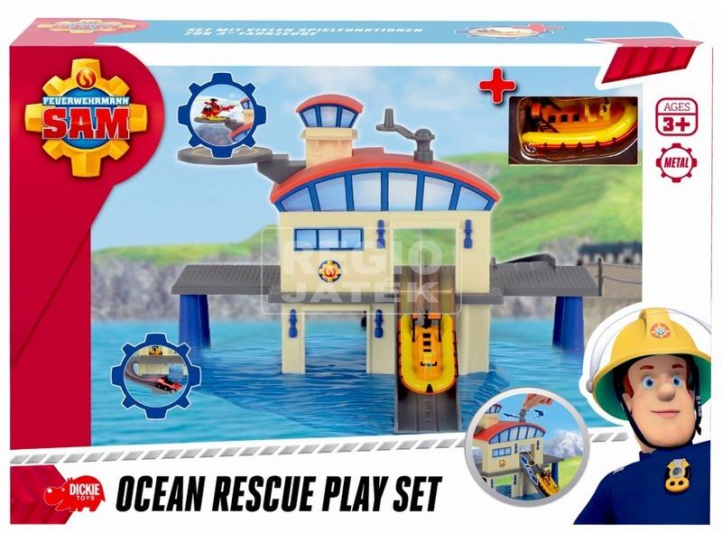 Sam a tűzoltó tengeri mentőállomás játékkészlet