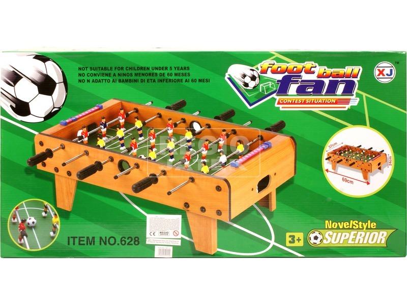 kép nagyítása Fa asztali foci készlet