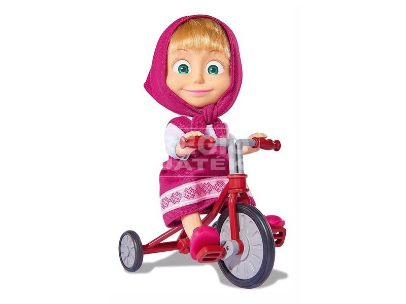 kép nagyítása Masha és a medve Masha baba triciklivel - 12 cm