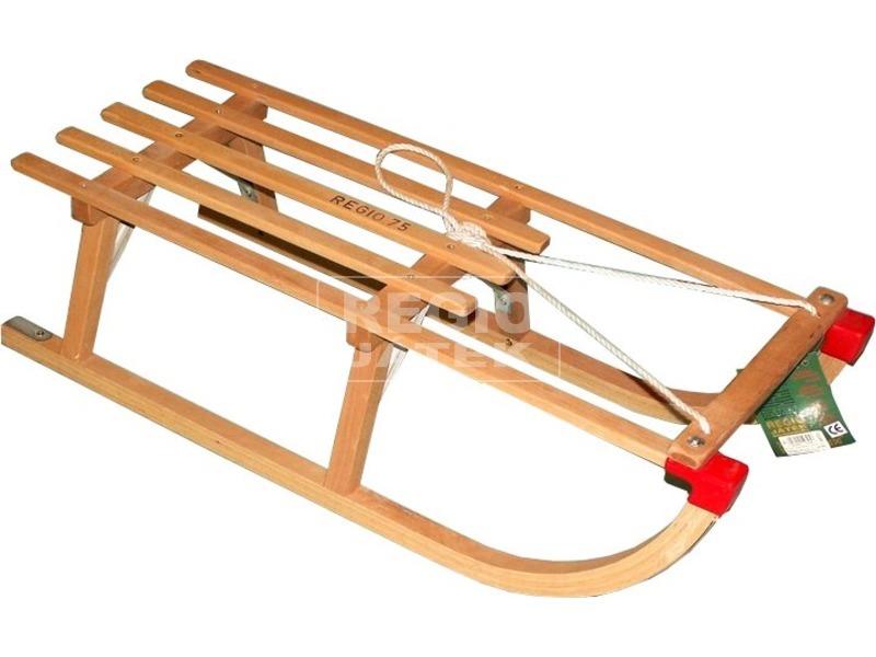 Fa szánkó kötéllel - 75 cm
