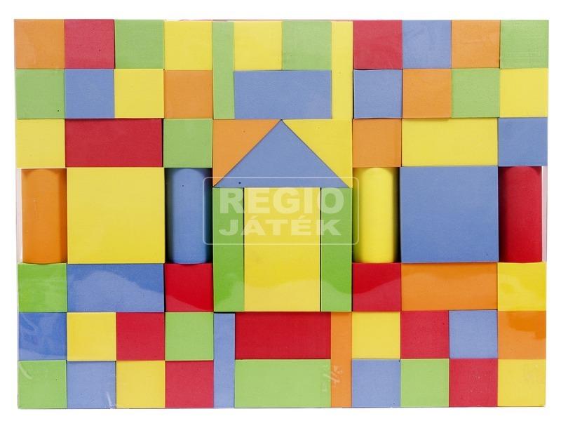 Szivacs építőkocka 65 darabos készlet