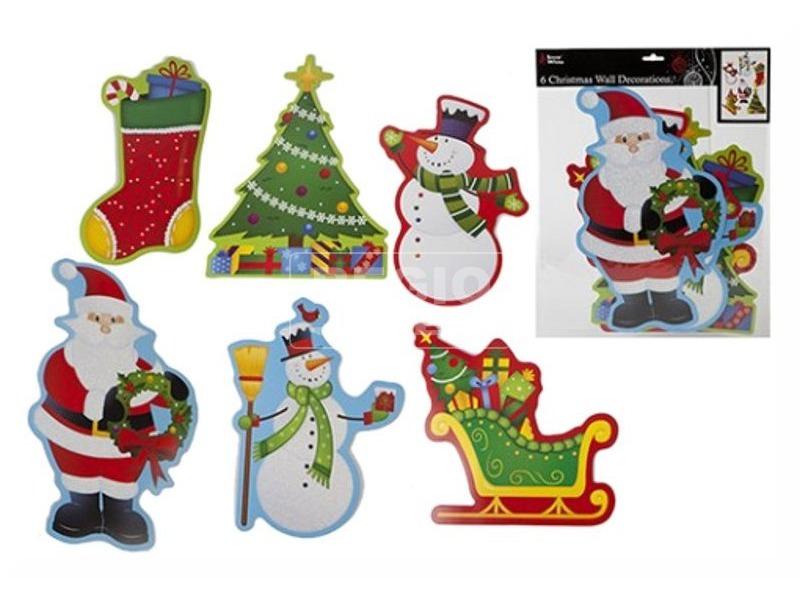 Karácsonyi dekoráció 6 darabos készlet